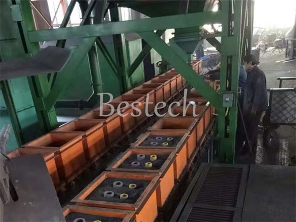 Steel shot filling  shell core production plant